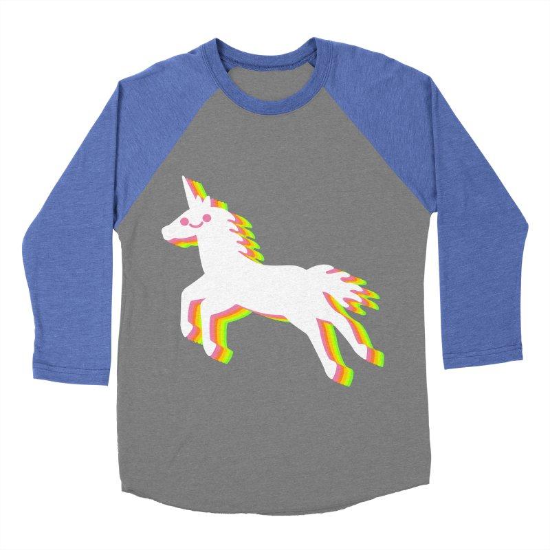 Derpy Unicorn Women's Baseball Triblend T-Shirt by JC Design
