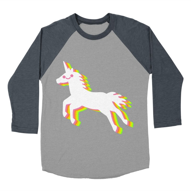 Derpy Unicorn Men's Baseball Triblend T-Shirt by JC Design