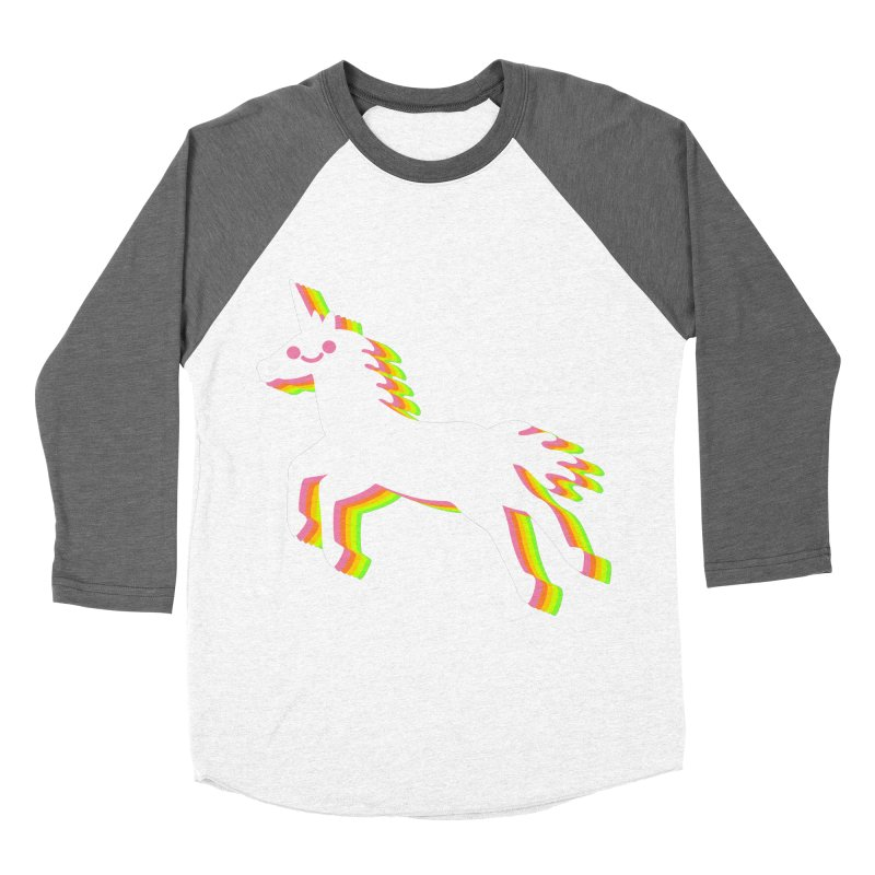 Derpy Unicorn Men's Baseball Triblend T-Shirt by JC Design