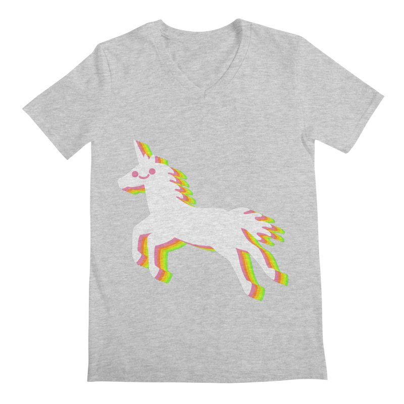 Derpy Unicorn Men's V-Neck by JC Design