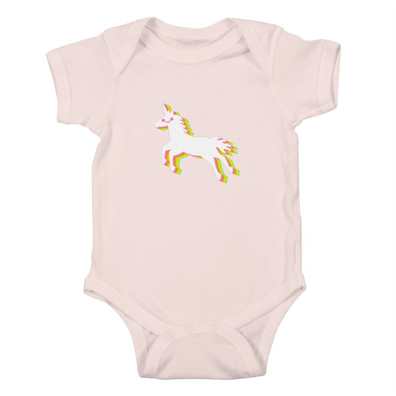 Derpy Unicorn Kids Baby Bodysuit by JC Design