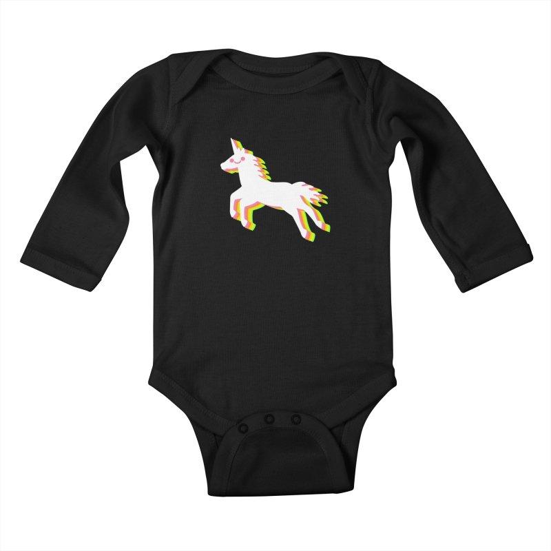 Derpy Unicorn Kids Baby Longsleeve Bodysuit by JC Design