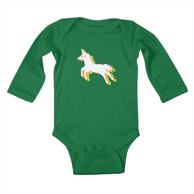 Derpy Unicorn Kids Baby Longsleeve Bodysuit by JC Design