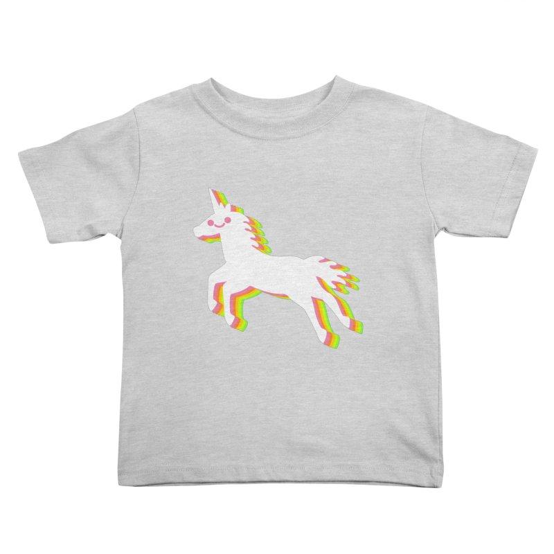 Derpy Unicorn Kids Toddler T-Shirt by JC Design