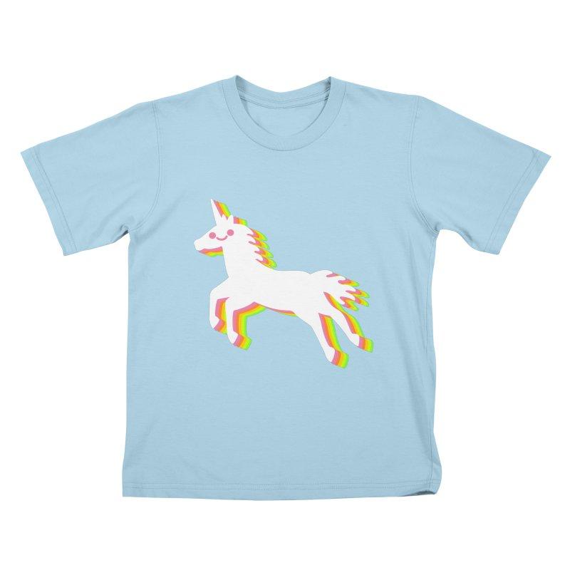 Derpy Unicorn Kids T-Shirt by JC Design