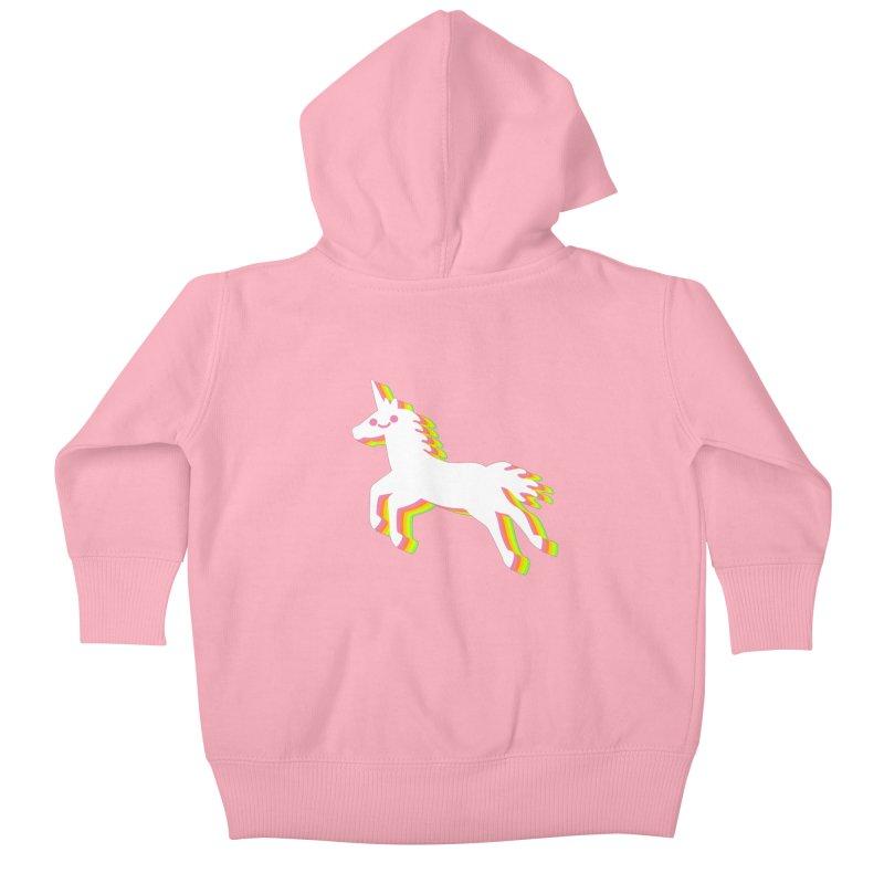 Derpy Unicorn Kids Baby Zip-Up Hoody by JC Design