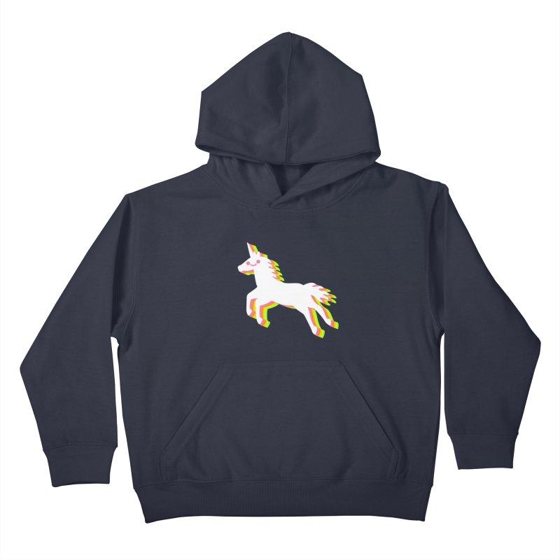 Derpy Unicorn Kids Pullover Hoody by JC Design
