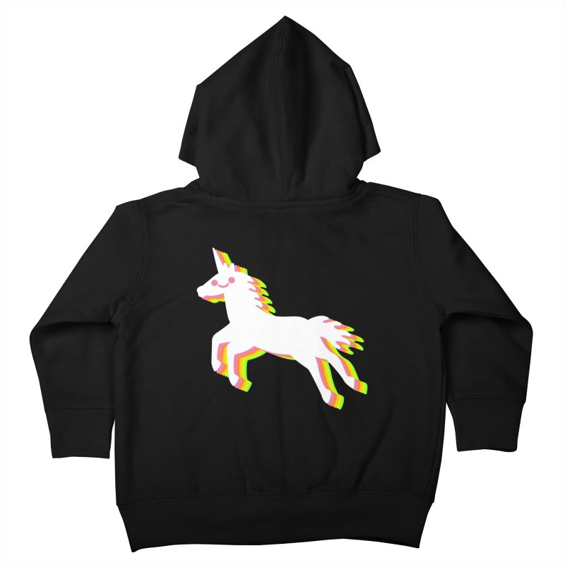 Derpy Unicorn Kids Toddler Zip-Up Hoody by JC Design