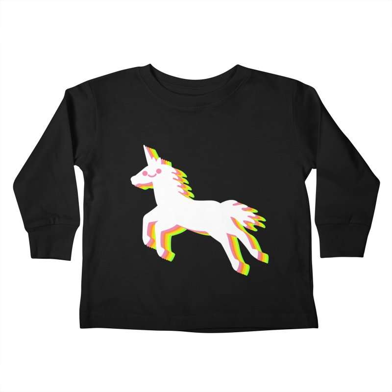 Derpy Unicorn Kids Toddler Longsleeve T-Shirt by JC Design