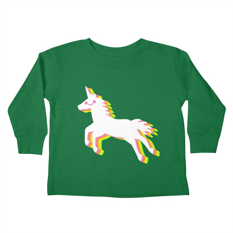 Derpy Unicorn Kids Toddler Longsleeve T-Shirt by JC Design