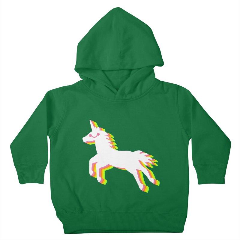 Derpy Unicorn Kids Toddler Pullover Hoody by JC Design