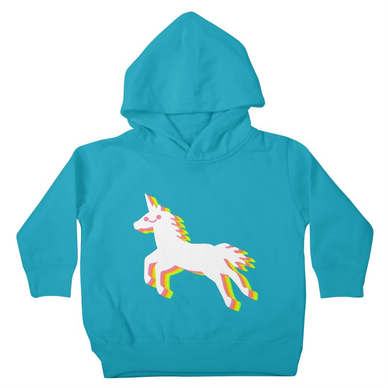 Derpy Unicorn Kids Toddler Pullover Hoody by JC Design