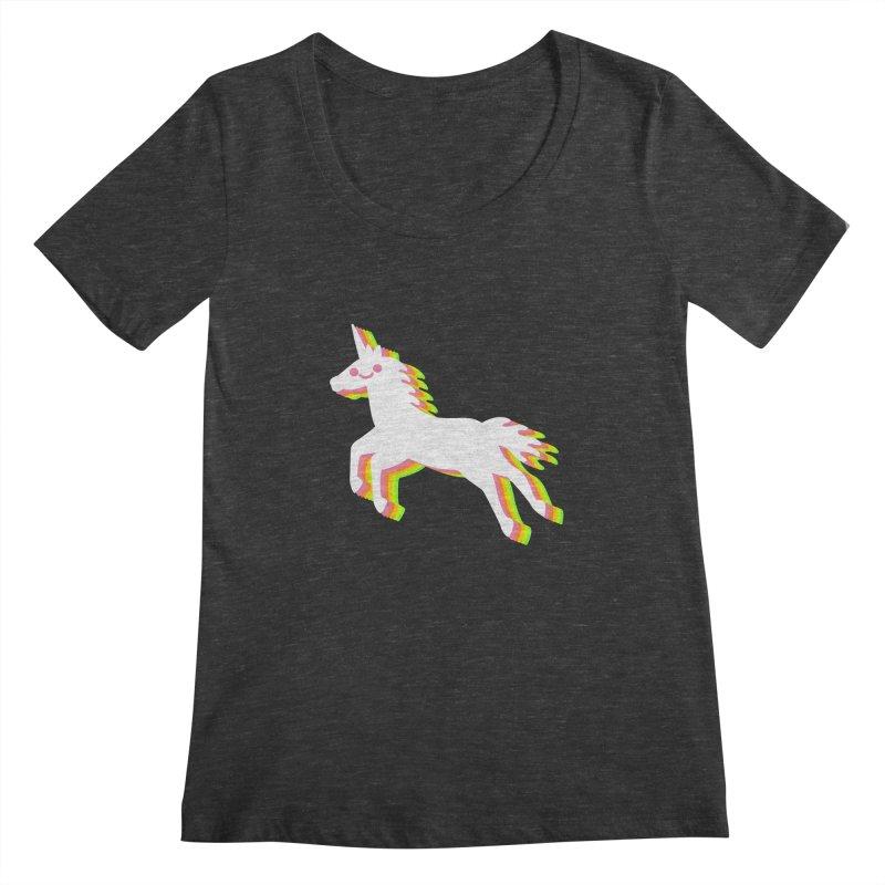 Derpy Unicorn Women's Scoopneck by JC Design