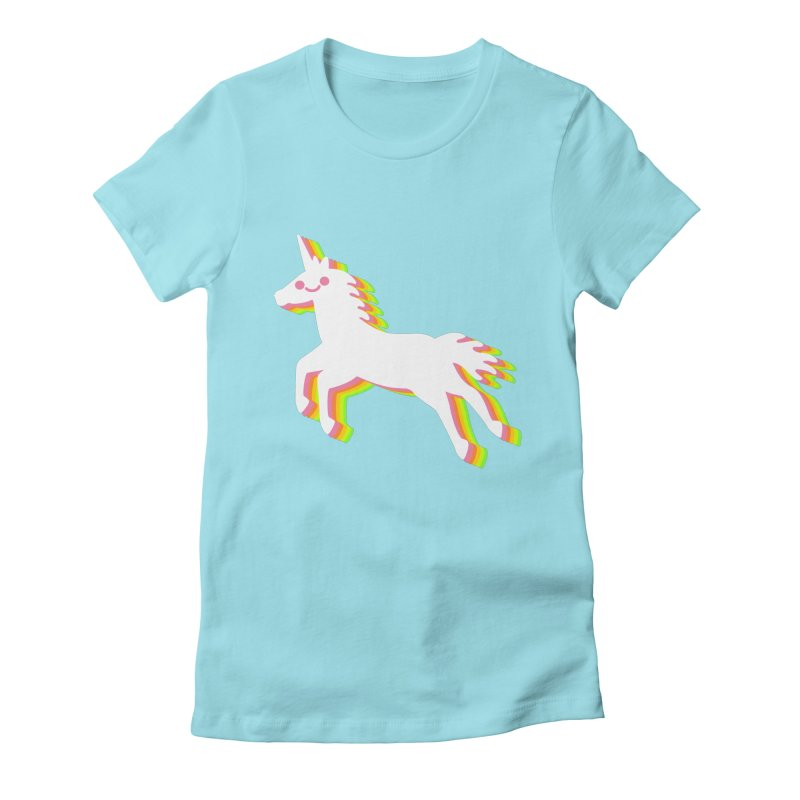 Derpy Unicorn Women's Fitted T-Shirt by JC Design