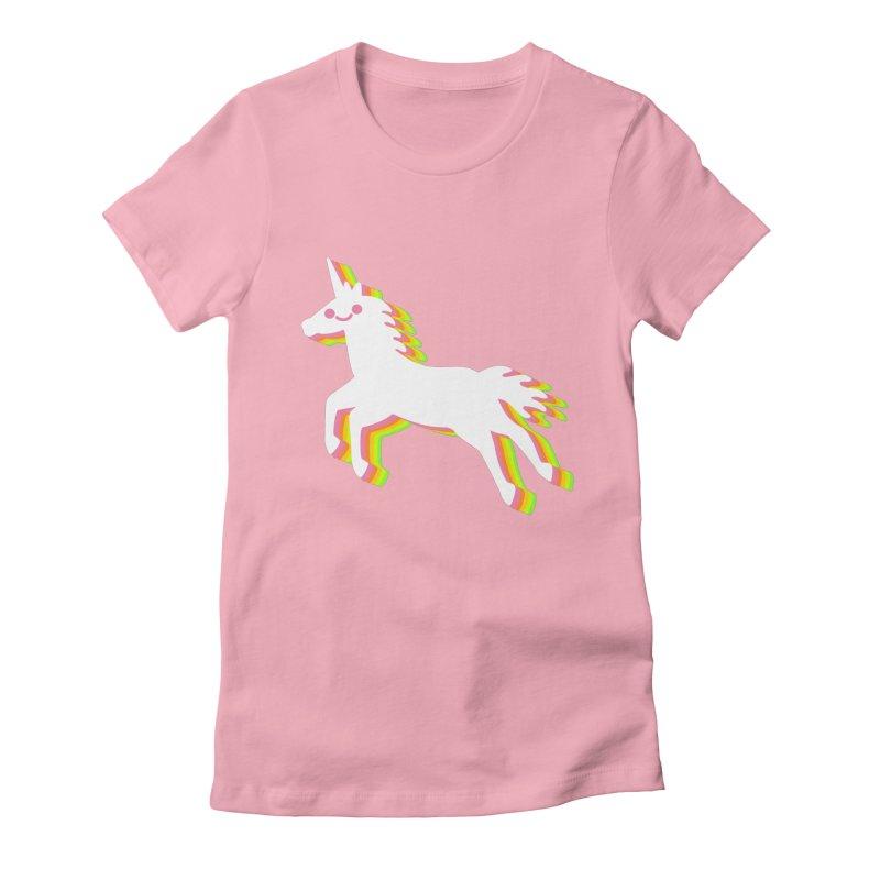 Derpy Unicorn Women's Fitted T-Shirt by JC Design