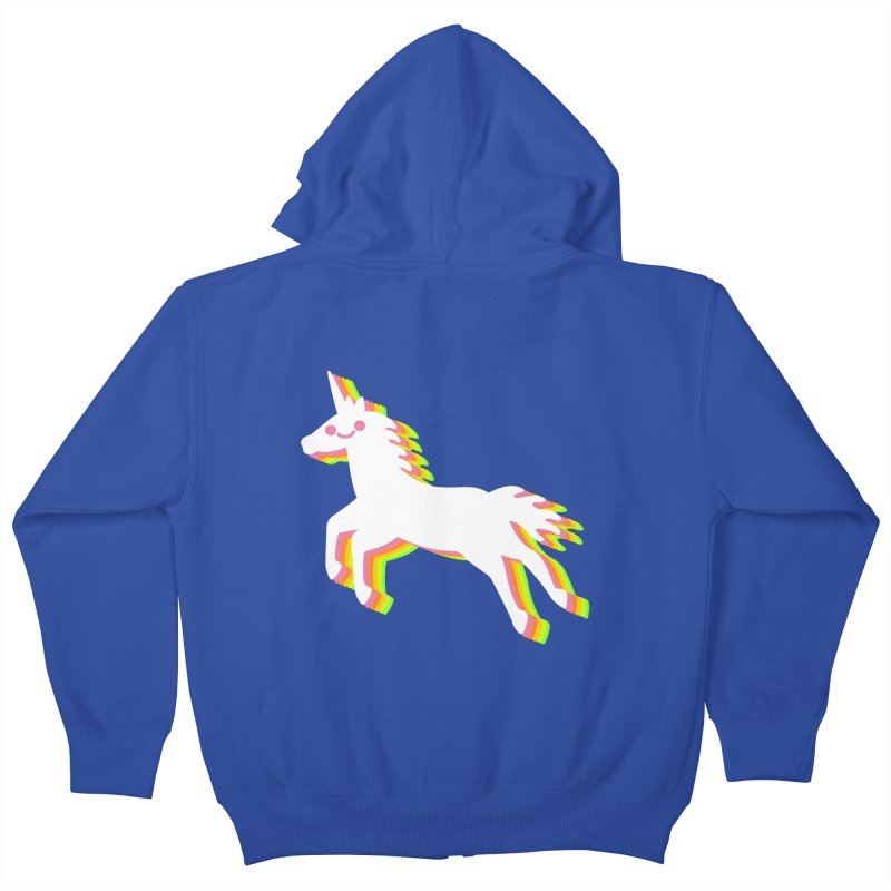 Derpy Unicorn Kids Zip-Up Hoody by JC Design