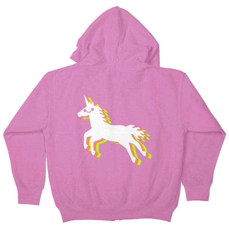 Derpy Unicorn Kids Zip-Up Hoody by JC Design