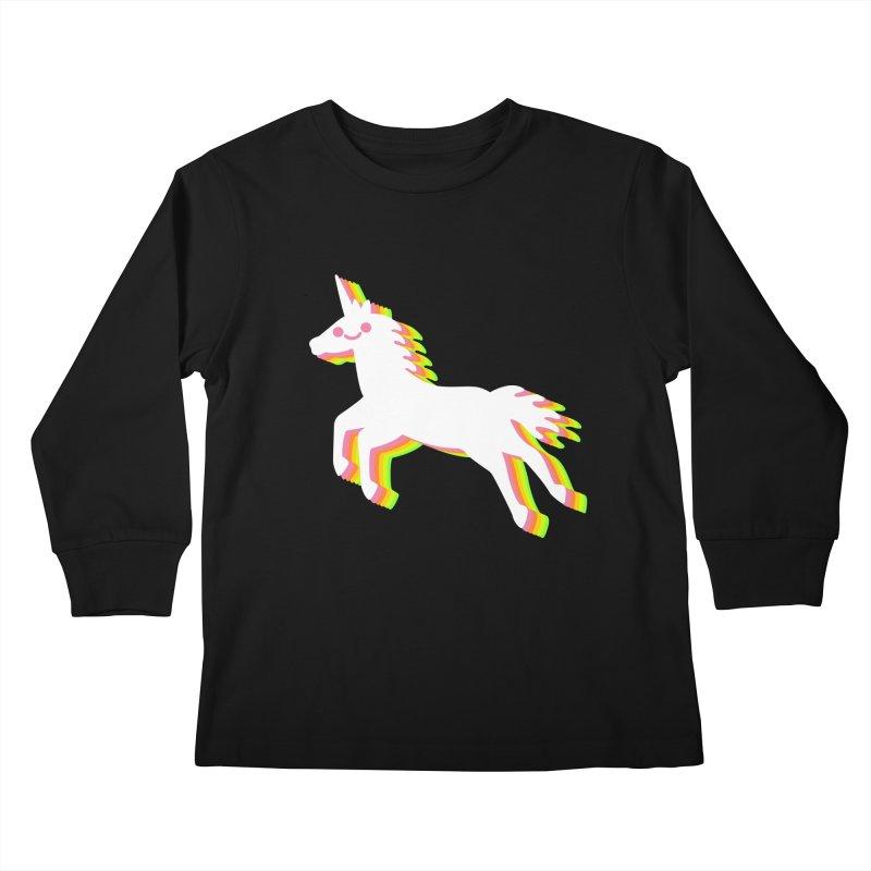 Derpy Unicorn Kids Longsleeve T-Shirt by JC Design