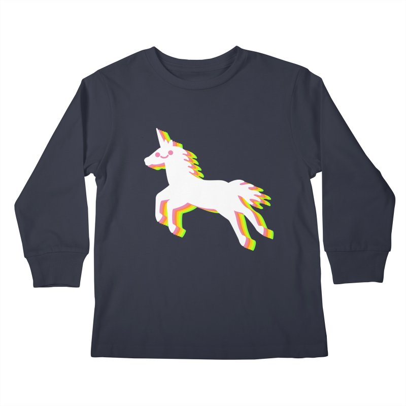 Derpy Unicorn Kids Longsleeve T-Shirt by JC Design