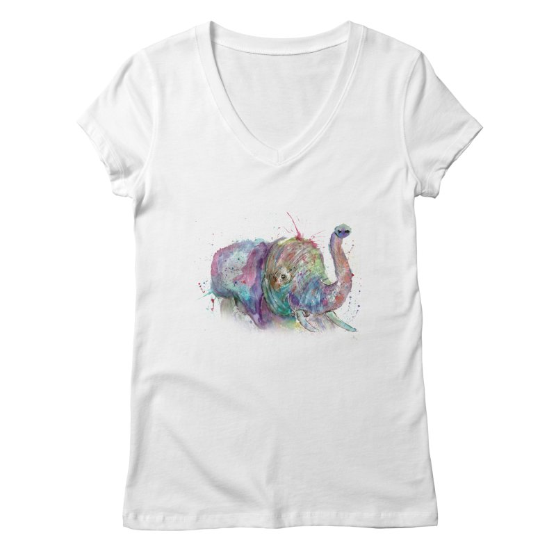 El Women's V-Neck by jamietaylorart's Artist Shop