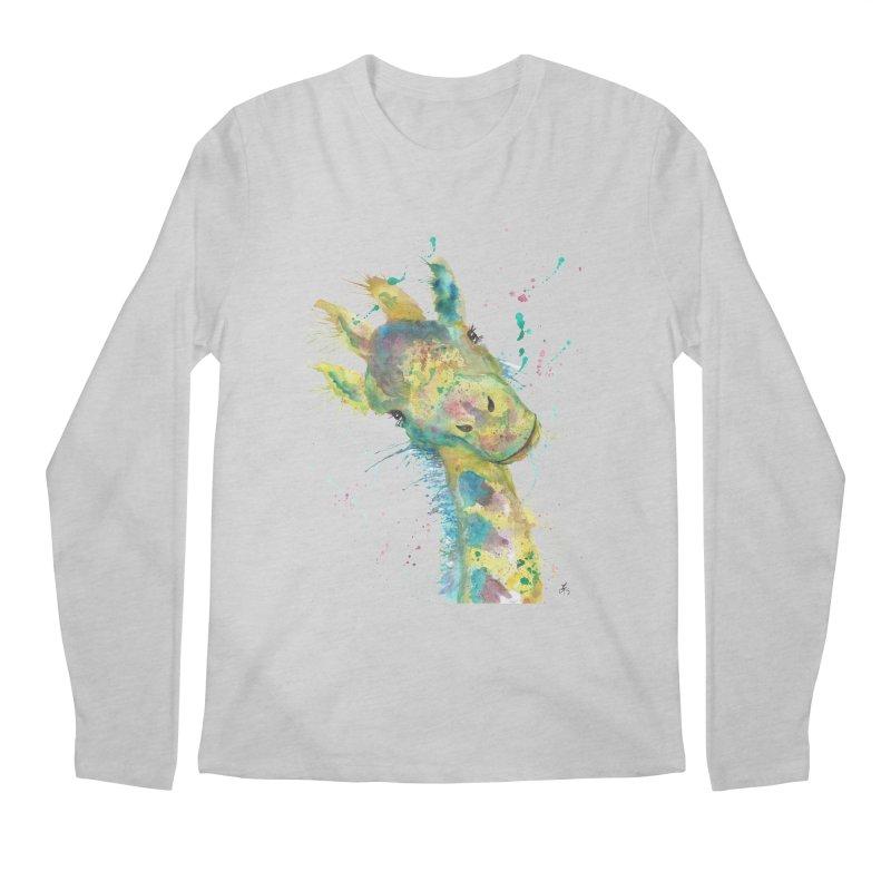 Hattie Giraffe Men's Longsleeve T-Shirt by jamietaylorart's Artist Shop