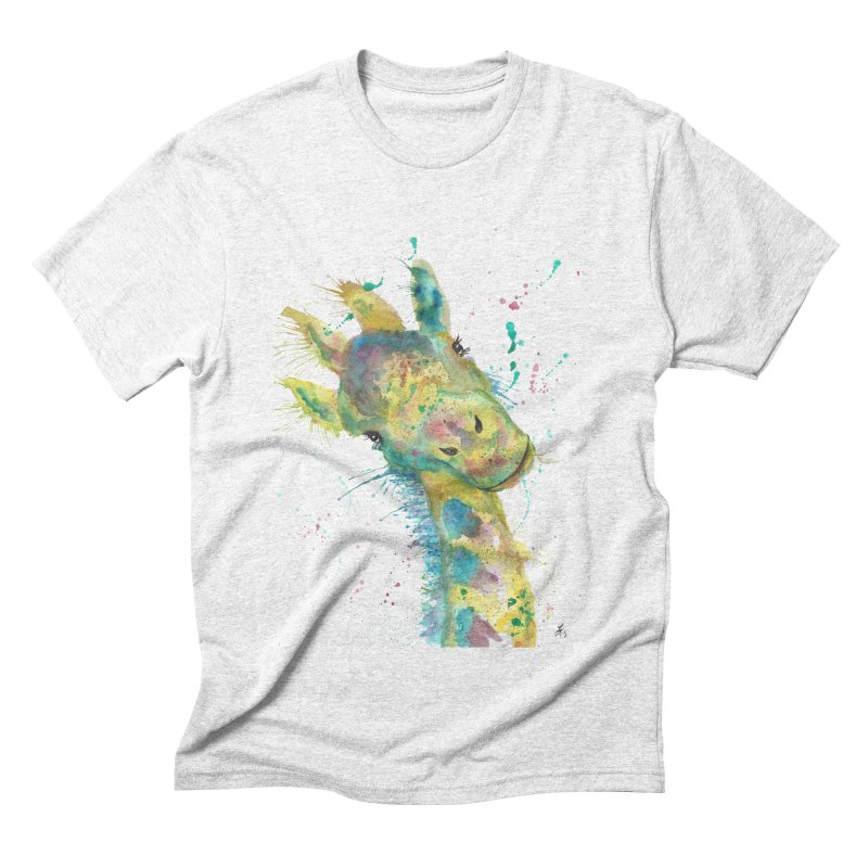 Hattie Giraffe Men's Triblend T-shirt by jamietaylorart's Artist Shop
