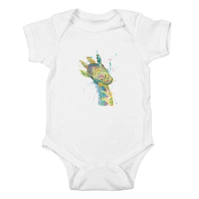 Hattie Giraffe Kids Baby Bodysuit by jamietaylorart's Artist Shop