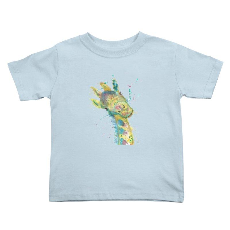 Hattie Giraffe Kids Toddler T-Shirt by jamietaylorart's Artist Shop
