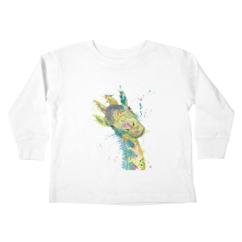 Hattie Giraffe Kids Toddler Longsleeve T-Shirt by jamietaylorart's Artist Shop