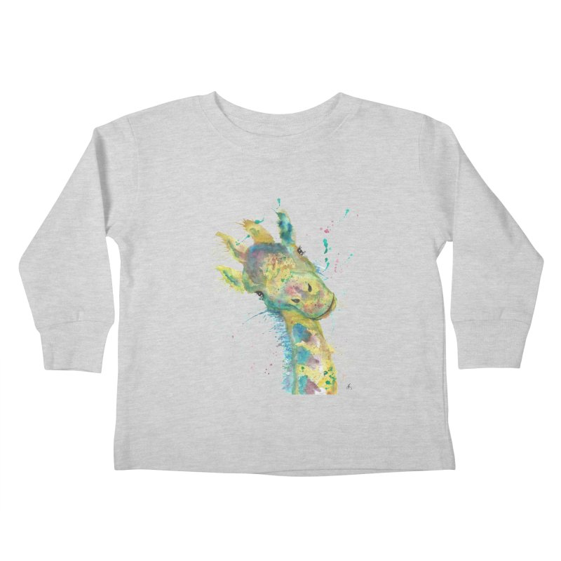 Hattie Giraffe Kids Toddler Longsleeve T-Shirt by jamietaylorart's Artist Shop