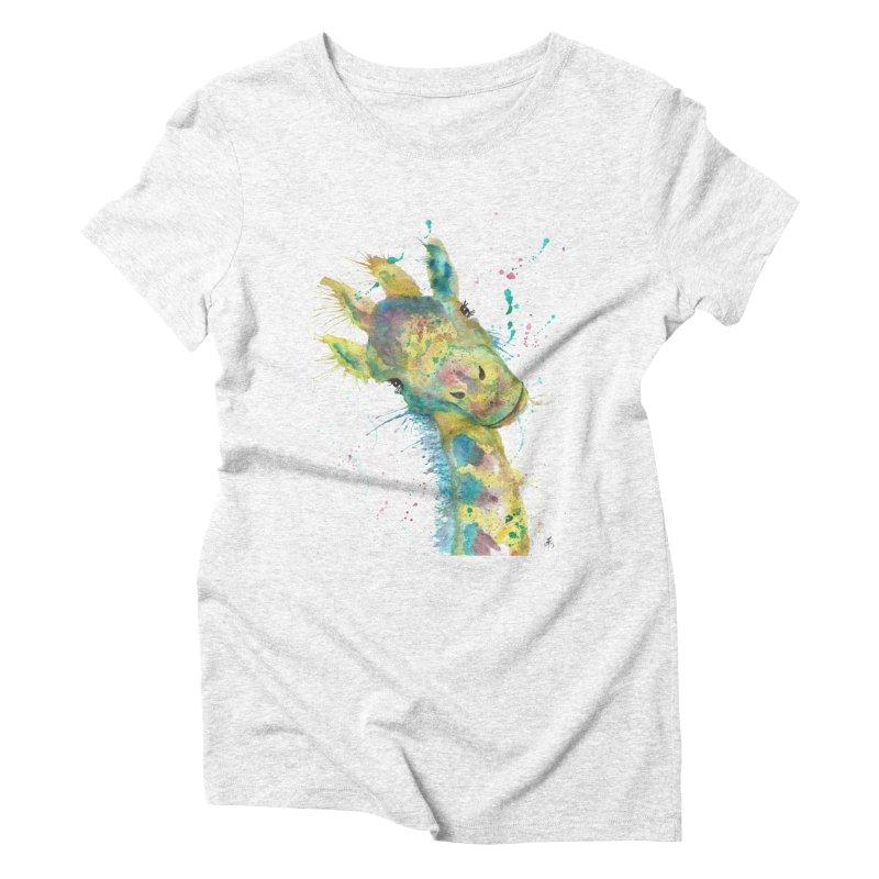 Hattie Giraffe Women's Triblend T-shirt by jamietaylorart's Artist Shop