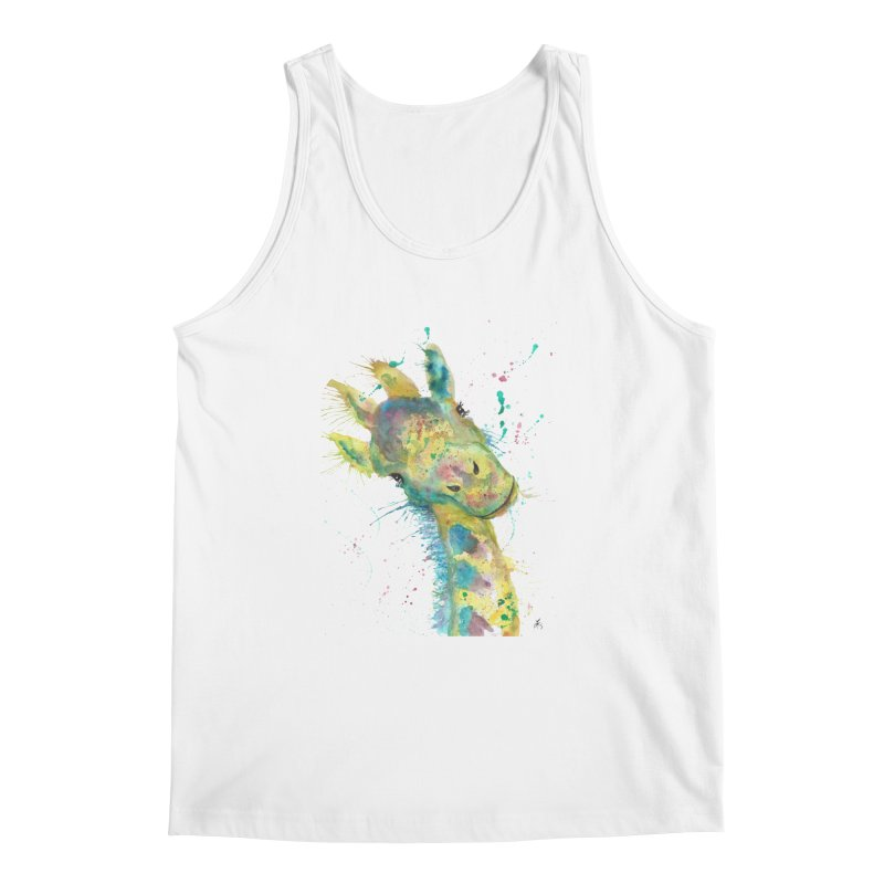 Hattie Giraffe Men's Tank by jamietaylorart's Artist Shop