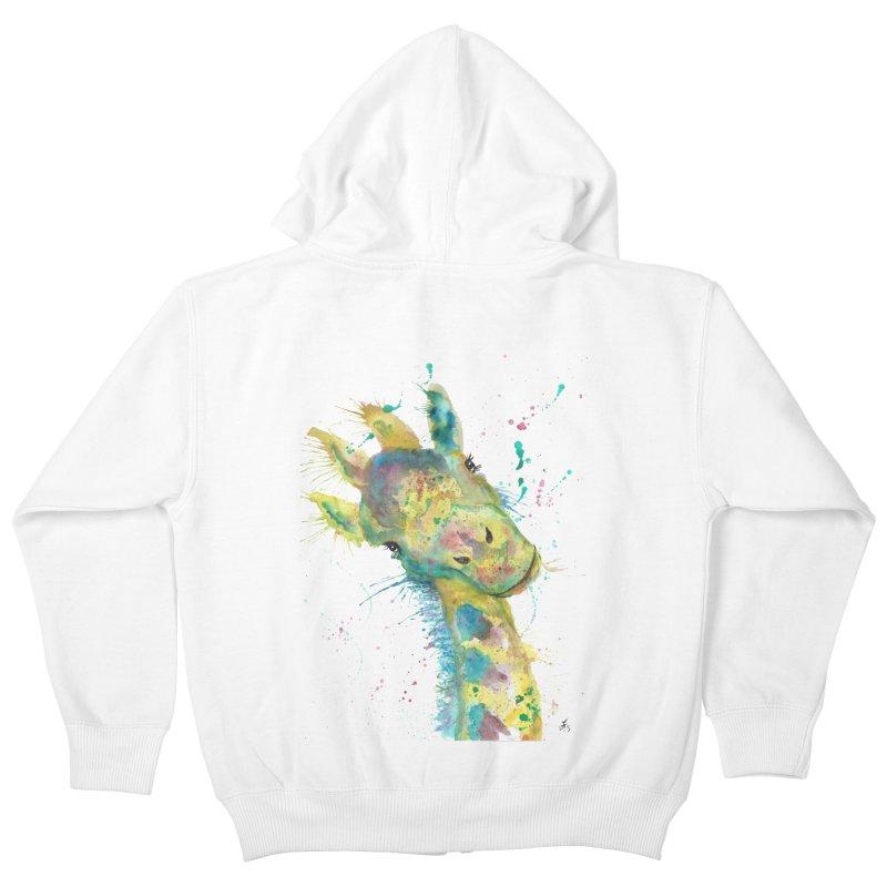 Hattie Giraffe Kids Zip-Up Hoody by jamietaylorart's Artist Shop