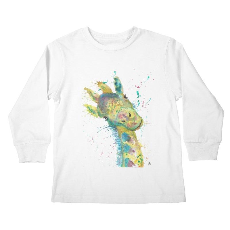Hattie Giraffe Kids Longsleeve T-Shirt by jamietaylorart's Artist Shop
