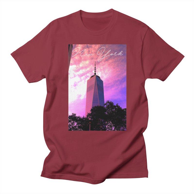 New York Men's T-Shirt by Junaid's Artist Shop