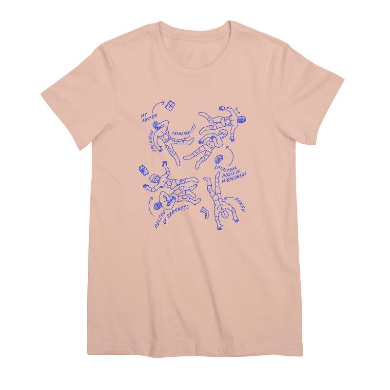 Wrestling Darkness Women's Premium T-Shirt by Jamus + Adriana