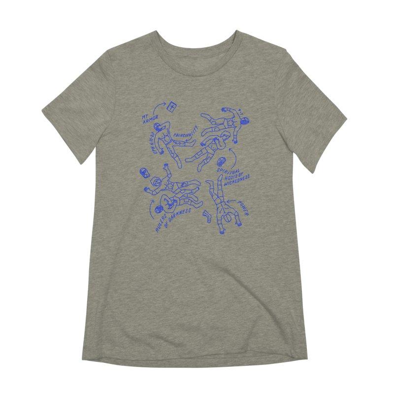 Wrestling Darkness Women's Extra Soft T-Shirt by Jamus + Adriana