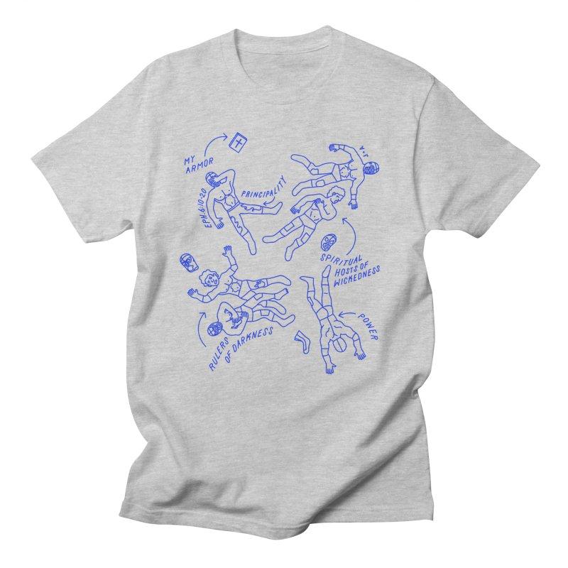 Wrestling Darkness Men's T-Shirt by Jamus + Adriana