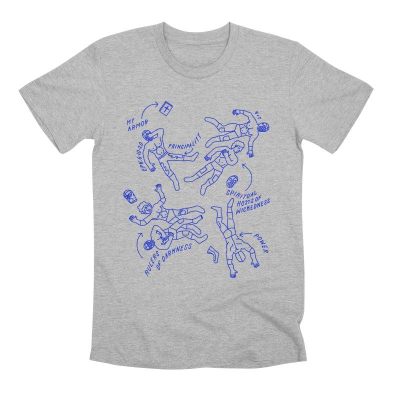 Wrestling Darkness Men's Premium T-Shirt by Jamus + Adriana