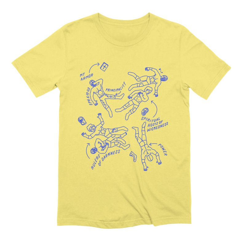 Wrestling Darkness Men's Extra Soft T-Shirt by Jamus + Adriana