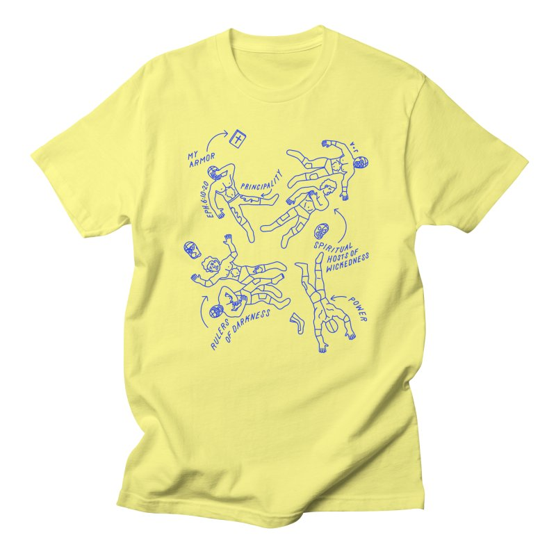 Wrestling Darkness Men's Regular T-Shirt by Jamus + Adriana