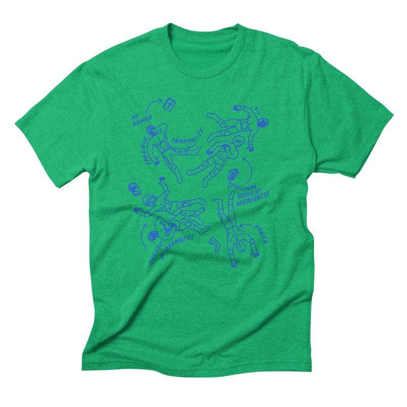 Wrestling Darkness Men's Triblend T-Shirt by Jamus + Adriana