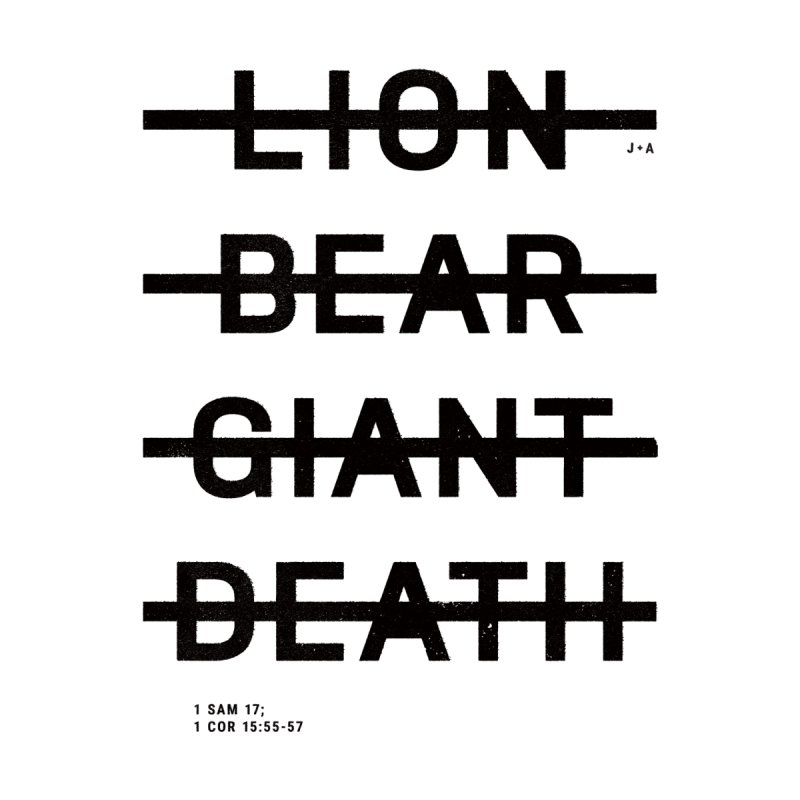 LION, BEAR, GIANT, DEATH Accessories Bag by Jamus + Adriana