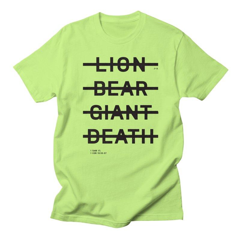 LION, BEAR, GIANT, DEATH Men's T-Shirt by Jamus + Adriana