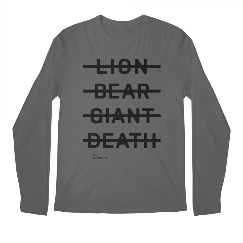 LION, BEAR, GIANT, DEATH Men's Regular Longsleeve T-Shirt by Jamus + Adriana
