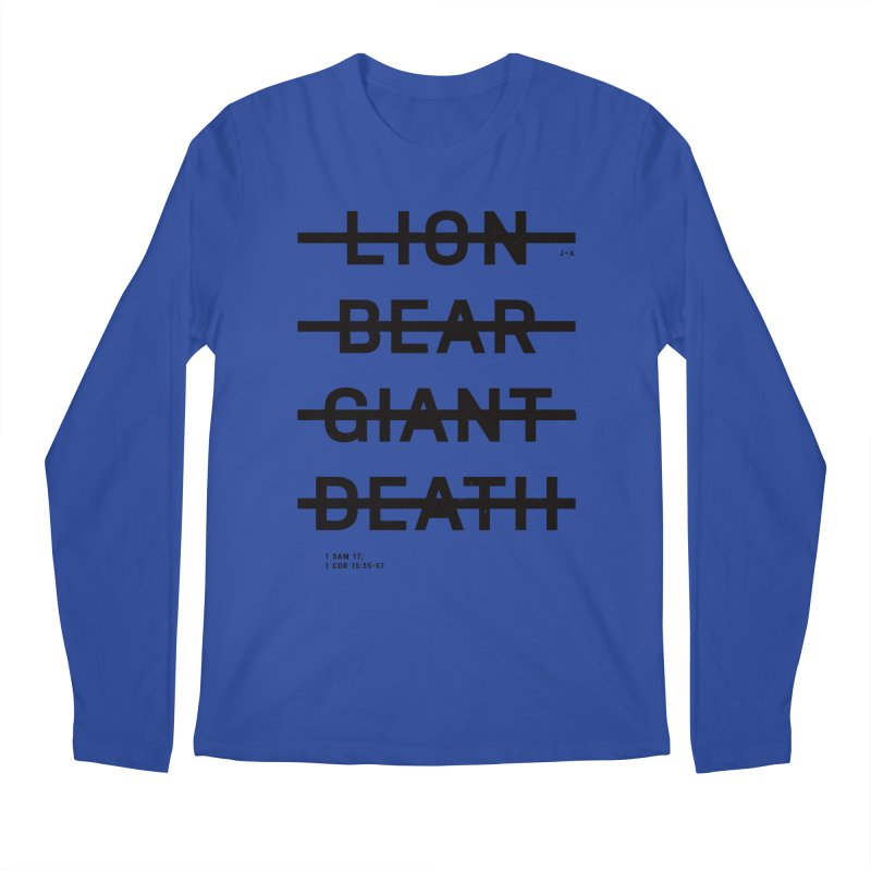 LION, BEAR, GIANT, DEATH Men's Regular Longsleeve T-Shirt by Jamus + Adriana