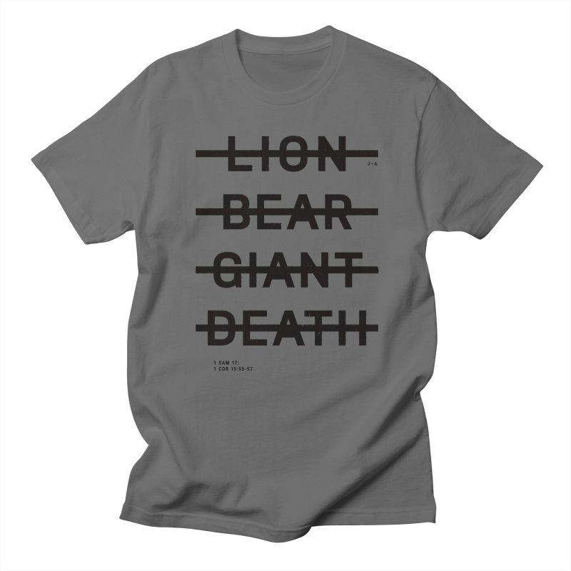 LION, BEAR, GIANT, DEATH Men's Regular T-Shirt by Jamus + Adriana