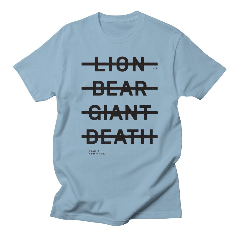 LION, BEAR, GIANT, DEATH Men's T-Shirt by Jamus + Adriana