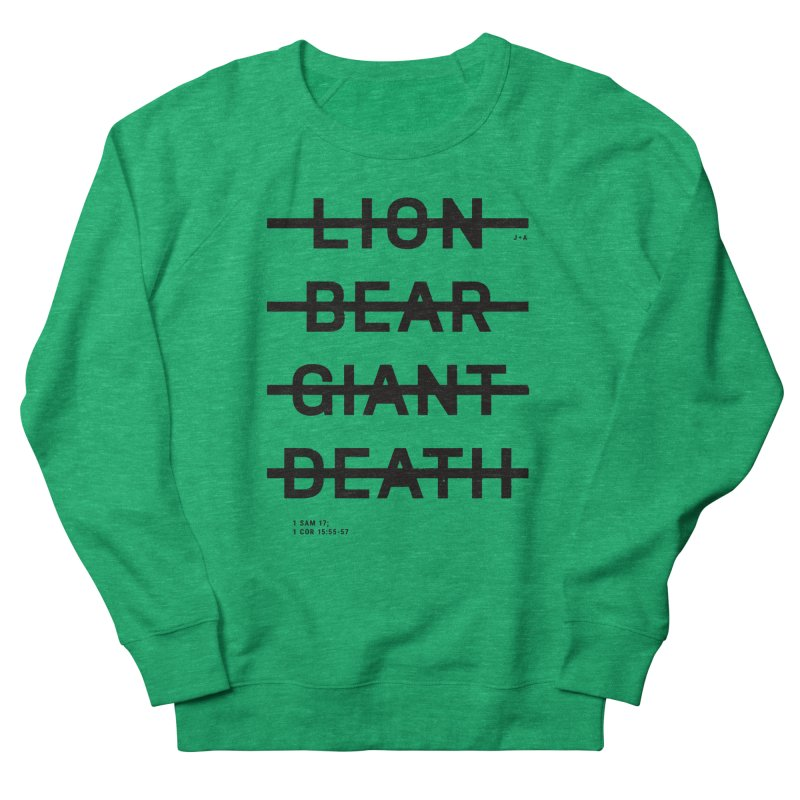 LION, BEAR, GIANT, DEATH Men's French Terry Sweatshirt by Jamus + Adriana