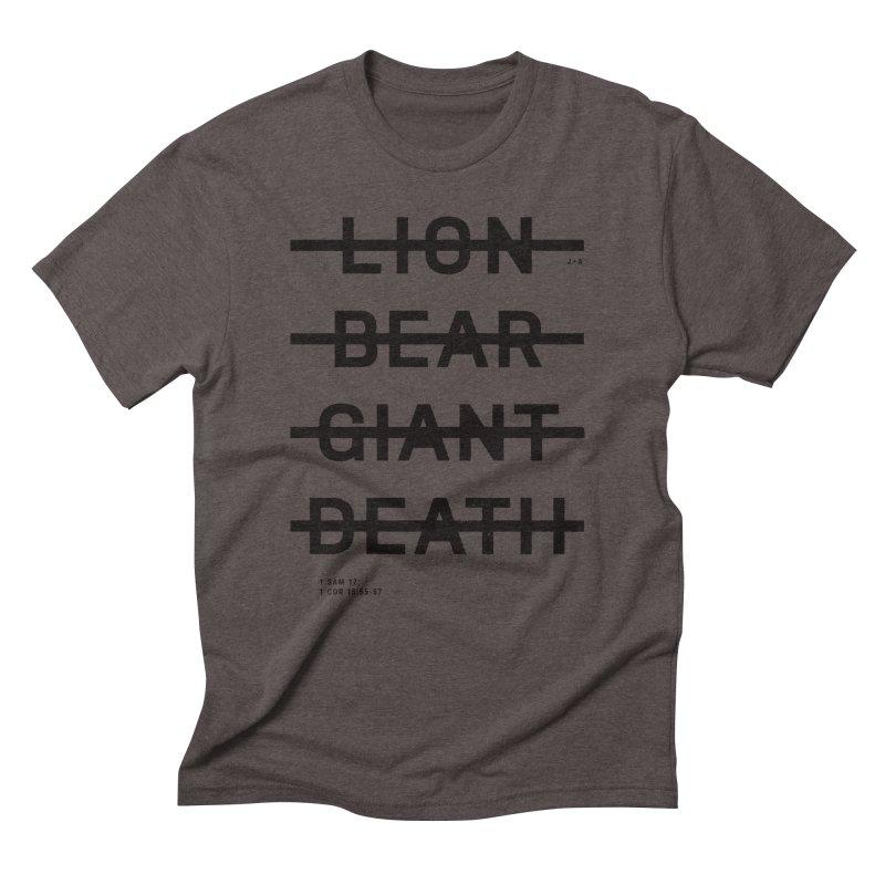 LION, BEAR, GIANT, DEATH Men's Triblend T-Shirt by Jamus + Adriana
